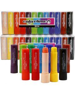 Soft Color Stick, L: 8 cm, ass. farger, 120 stk./ 1 pk.