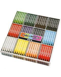 Colortime fargekritt, L: 10 cm, tykkelse 11 mm, ass. farger, 288 stk./ 1 pk.