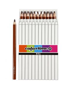 Colortime fargeblyanter, L: 17,45 cm, mine 5 mm, JUMBO, brun, 12 stk./ 1 pk.