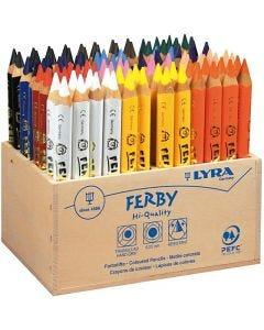 Super Ferby 1 fargeblyanter, L: 12 cm, mine 6.25 mm, ass. farger, 96 stk./ 1 pk.