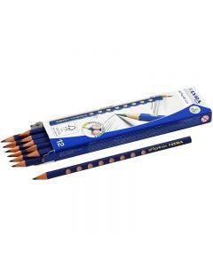 Groove Graphite blyant, dia. 7,2 mm, hardhet HB, mine 3,3 mm, 12 stk./ 1 pk.
