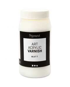 Art Acrylic sluttfernis, matt, matt transparent, hvit, 500 ml/ 1 boks