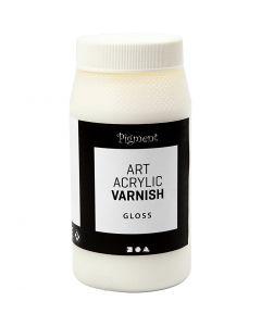 Art Acrylic sluttfernis, Blank transparent, hvit, 500 ml/ 1 boks