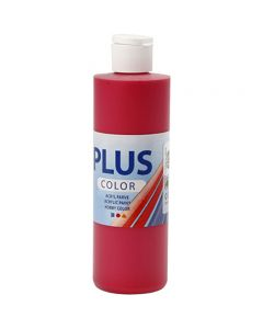 Plus Color hobbymaling, bær rød, 250 ml/ 1 fl.