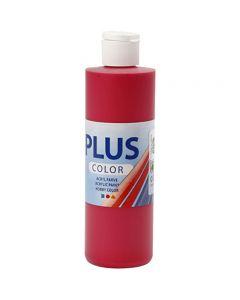 Plus Color hobbymaling, bær rød, 250 ml/1 fl.