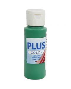 Plus Color hobbymaling, brilliant grønn, 60 ml/ 1 fl.