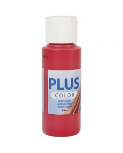 Plus Color hobbymaling, bær rød, 60 ml/ 1 fl.