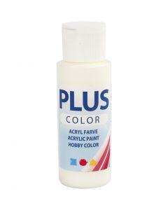 Plus Color hobbymaling, råhvit, 60 ml/ 1 fl.