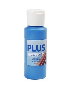 Plus Color hobbymaling, primær blå, 60 ml/ 1 fl.