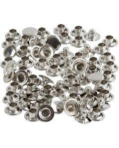 Nitter, dia. 7 mm, sølv, 50 stk./ 1 pk.