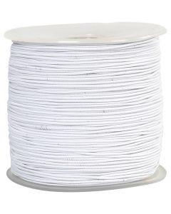 Elastikksnor, tykkelse 1 mm, hvit, 250 m/ 1 rl.