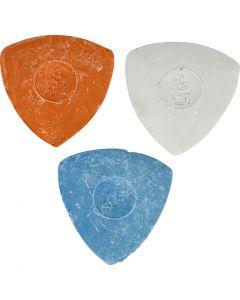 Skredderkritt, dia. 5,5 cm, blå, rød, hvit, 3 stk./ 1 pk.