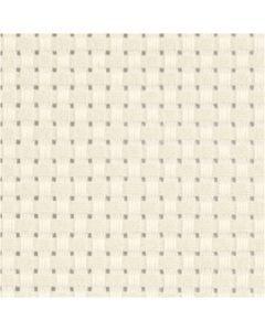 Aidastoff, str. 50x50 cm, 35 ruter pr. 10 cm  , råhvit, 1 stk.