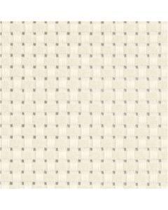 Aidastoff, B: 150 cm, 35 ruter pr. 10 cm  , råhvit, 3 m/ 1 stk.