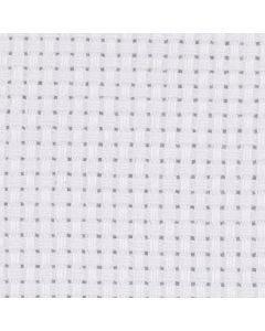 Aidastoff, str. 50x50 cm, 43 ruter pr. 10 cm  , hvit, 1 stk.