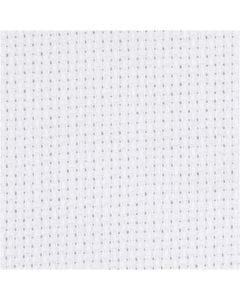 Aidastoff, str. 50x50 cm, 70 ruter pr. 10 cm, hvit, 1 stk.