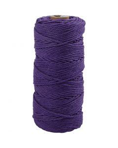 Knyttegarn, L: 100 m, tykkelse 2 mm, Tykk kvalitet 12/36, violet, 225 g/ 1 nst.