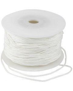 Knyttesnor, tykkelse 2 mm, hvit, 50 m/ 1 rl.