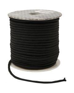 Knyttesnor, tykkelse 4 mm, svart, 40 m/ 1 rl.