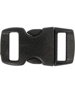 Klikklås, L: 29 mm, B: 15 mm, hullstr. 3x11 mm, svart, 4 stk./ 1 pk.