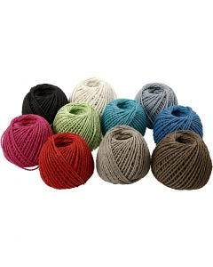 Paperyarn , tykkelse 2,5-3 mm, 10x40 m/ 1 pk.