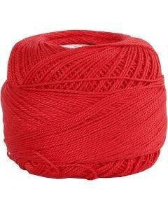Mercerisert bomullsgarn, rød, 20 g/ 1 nst.