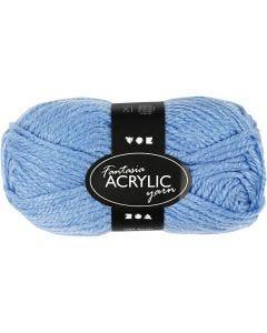 Fantasia Akrylgarn, L: 80 m, blå, 50 g/ 1 nst.