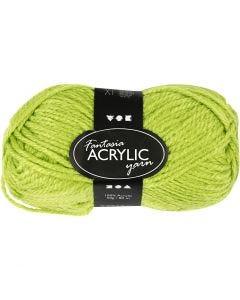 Fantasia Akrylgarn, L: 80 m, lys grønn, 50 g/ 1 nst.