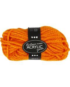 Fantasia Akrylgarn, L: 35 m, str. maxi , neon orange, 50 g/ 1 nst.