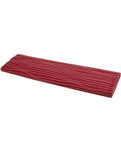 Stoff, B: 145 cm, 140 g, rød/hvit, 10 m/ 1 rl.