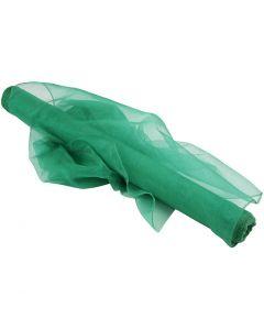 Organzastoff, B: 50 cm, grønn, 10 m/ 1 rl.