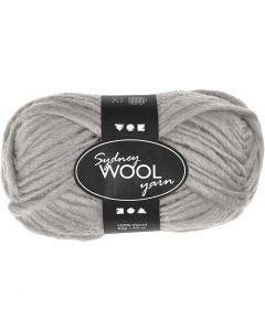 Sydney ullgarn, L: 50 m, lys grå, 50 g/ 1 nst.