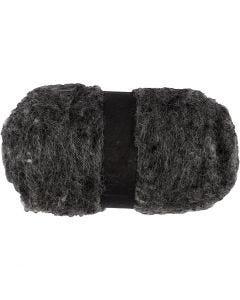 Kardet ull, naturgrå, 100 g/ 1 bunt