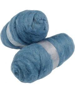 Kardet ull, himmelblå, 2x100 g/ 1 pk.