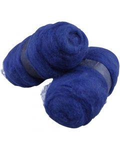Kardet ull, kongeblå, 2x100 g/ 1 pk.