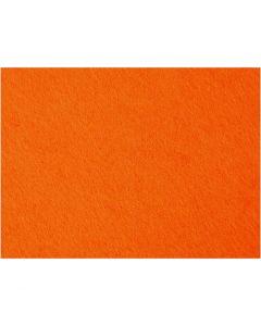 Hobbyfilt, 42x60 cm, tykkelse 3 mm, orange, 1 ark