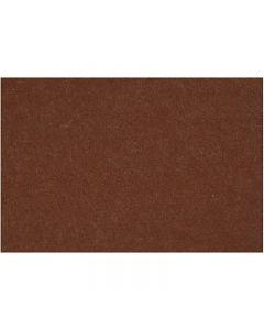 Hobbyfilt, 42x60 cm, tykkelse 3 mm, brun, 1 ark
