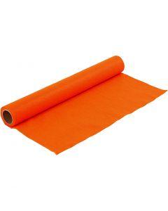 Hobbyfilt, B: 45 cm, tykkelse 1,5 mm, 180-200 g, orange, 1 m/ 1 rl.
