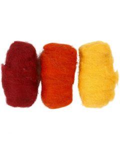 Kardet ull, gul pastell (32244), 3x10 g/ 1 pk.
