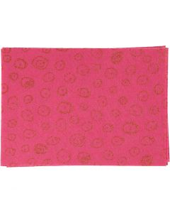 Hobbyfilt, A4, 210x297 mm, tykkelse 1 mm, pink, 10 ark/ 1 pk.