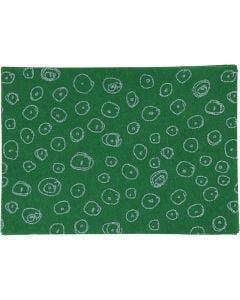 Hobbyfilt, A4, 210x297 mm, tykkelse 1 mm, grønn, 10 ark/ 1 pk.