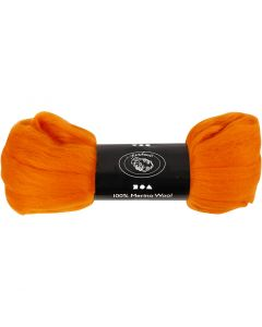 Ull, tykkelse 21 my, orange, 100 g/ 1 pk.