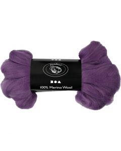 Ull, tykkelse 21 my, violet, 100 g/ 1 pk.