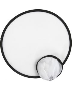 Frisbee, dia. 25 cm, hvit, 5 stk./ 1 pk.