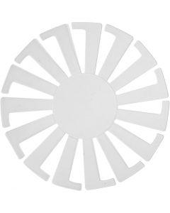 Flett-lett-sjablong, H: 6 cm, dia. 8 cm, transparent, 10 stk./ 1 pk.