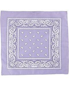 Hårbandsbandana, str. 55x55 cm, lilla, 1 stk.