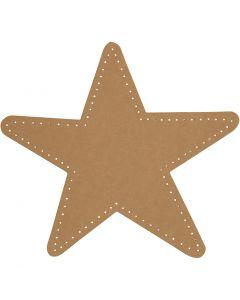 Stjerne, dia. 17 cm, 350 g, natur, 4 stk./ 1 pk.