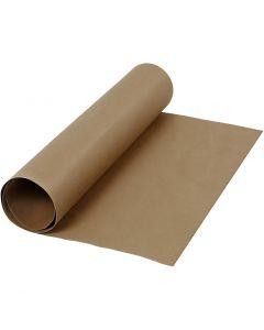 Lærpapir, B: 50 cm, ensfarget, 350 g, mørk brun, 1 m/ 1 rl.