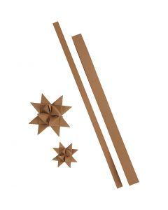 Stjernestrimler, L: 44+78 cm, B: 15+25 mm, 350 g, natur, 24 strimler/ 1 pk.