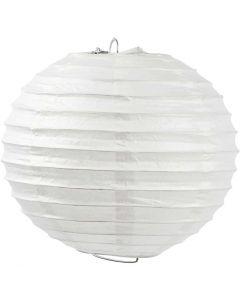 Papirlampe, Rund, dia. 20 cm, hvit, 1 stk.